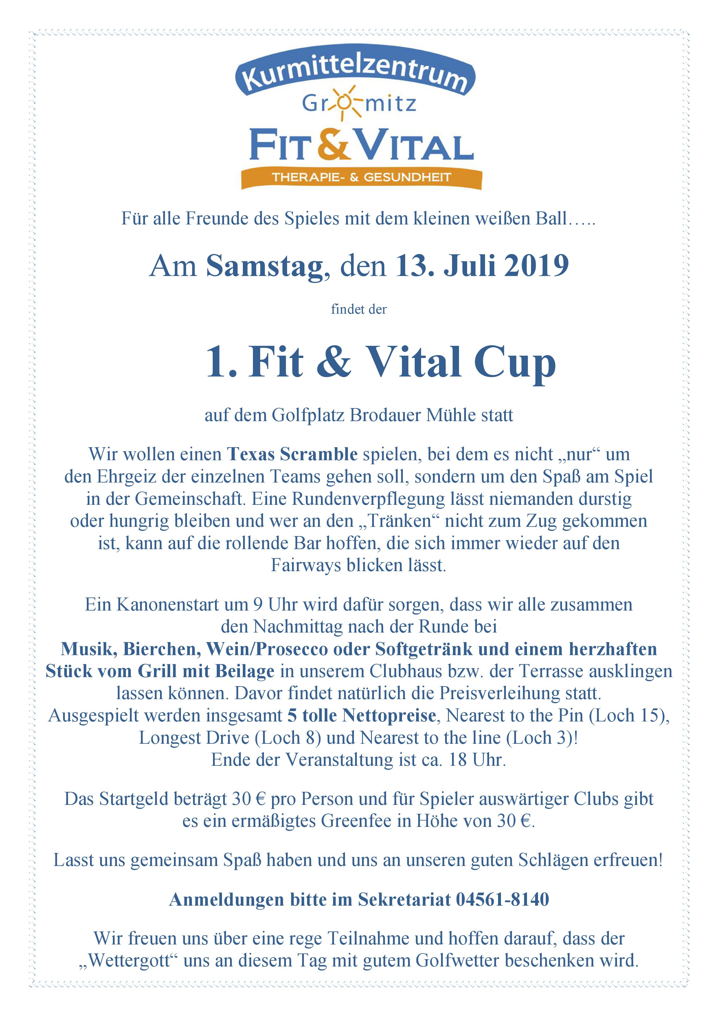 Fit & Vital Cup 2019